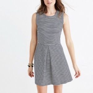 Madewell Navy & White Striped Sailor Dress Small